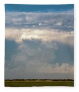 Evening Supercell And Lightning 012 Fleece Blanket