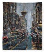 Evening Traffic II Fleece Blanket