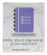 Eventdex- It's All About Event Management Fleece Blanket