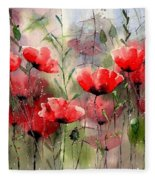 Everything About Poppies Fleece Blanket