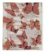 Exotic Scripts Fleece Blanket