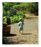 Explore, Edgefield Garden Fleece Blanket