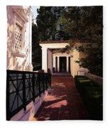 Exterior Amazing Getty Villa  Fleece Blanket