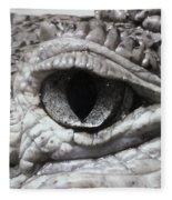 Eye Of Alligator Fleece Blanket