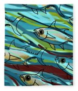 F Is For Fish Fleece Blanket