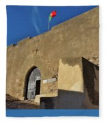Facade Of The Medieval Castle Of Castro Marim Fleece Blanket