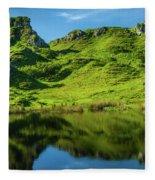 Fairy Glen, Isle Of Skye Fleece Blanket