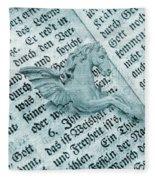 Fairytale Theme With Pegasus Horse Fleece Blanket