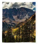 Fall At Maroon Bells Fleece Blanket