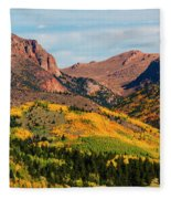 Fall Colors On The North Face Of Pikes Peak Fleece Blanket