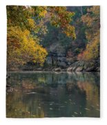 Fall In Arkansas Fleece Blanket