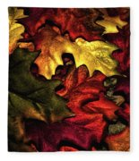 Fall Is On The Ground Fleece Blanket