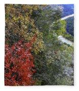 Fall Meets Winter Fleece Blanket