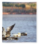 Fall Migration At Whittlesey Creek Fleece Blanket