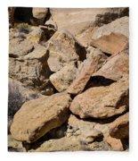 Fallen Sandstone Boulders Fleece Blanket