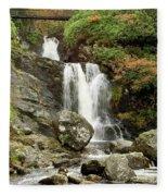 Falls At Inversnaid In Autumn Fleece Blanket