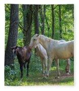 Family Of Horses Fleece Blanket