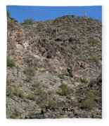 Family Of Saguaro Fleece Blanket