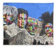 Famous Contemporary Artists Mural Fleece Blanket