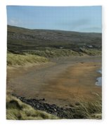 Fanore Beach The Burren Fleece Blanket