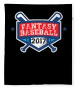 Fantasy Baseball Design 2017 Fleece Blanket