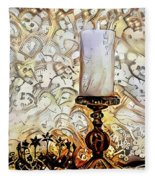 Fantasy Candle Fleece Blanket