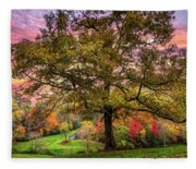 Farm In The Blue Ridge Smoky Mountains Fleece Blanket