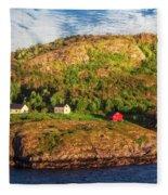 Farm On The Edge Fleece Blanket