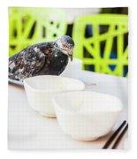 Fast Food Asian Pigeon Fleece Blanket