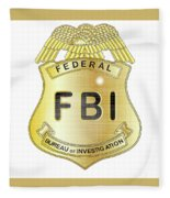 Fbi Badge Fleece Blanket