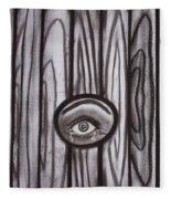 Fear - Eye Through Fence Fleece Blanket