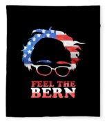Feel The Bern Patriotic Fleece Blanket