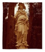 Goddess Statue Fleece Blanket