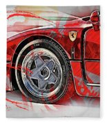 Ferrari F40 - 11 Fleece Blanket