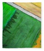 Fields Of Green Fleece Blanket