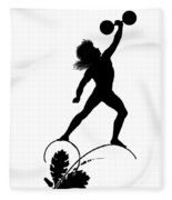 Figure Lifting Dumbbell, Illustration For Gottliche Jugen Ein Tag Aus Dem Sonnenlande Fleece Blanket