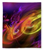 Cellist In Space Fleece Blanket