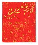 Fire Birds Fleece Blanket