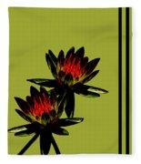 Fire Lilies Fleece Blanket