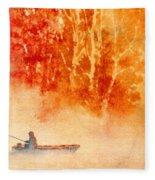 Fisherman's Mist Fleece Blanket