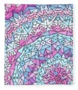Comfortably Cosmic, In Lavendar Fleece Blanket
