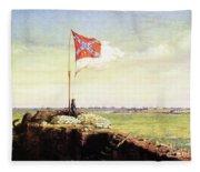 Flag Of Fort Sumter Fleece Blanket