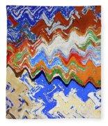 Flaking Paint Fleece Blanket
