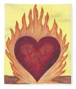 Flaming Heart Fleece Blanket