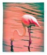 Flamingo Art Fleece Blanket