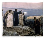Flevit Super Illam, 1892 Fleece Blanket