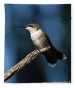 Flick Of The Tongue - Ruby-throated Hummingbird Fleece Blanket