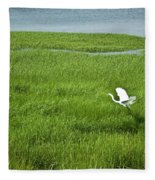 Salt Marsh Flight Fleece Blanket