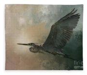 Flight Of The Great Blue Fleece Blanket