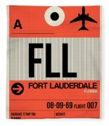 Fll Fort Lauderdale Luggage Tag I Fleece Blanket